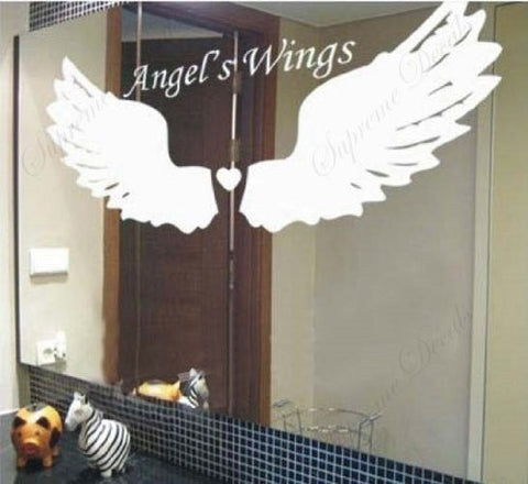 Custom Color PopDecals - Angel's Wings - removable vinyl art wall decals for home decor - PopDecors,Baby Product, PopDecals, PopDecors