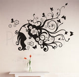 Flower Girl Wall Decals - PopDecors,Home, Pop Decors, PopDecors