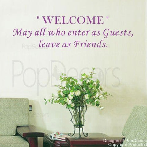 May all who Enter as Guests-Quote Decal - PopDecors,Baby Product, Pop Decors, PopDecors