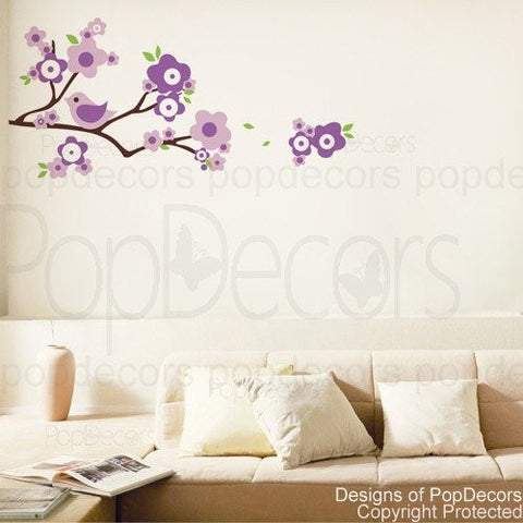Lovely Branch and Birds-Wall Decal - PopDecors,Baby Product, Pop Decors, PopDecors