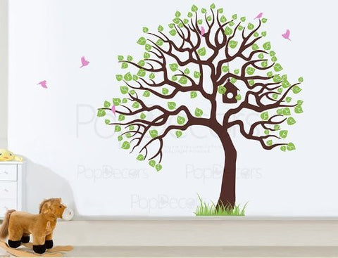 Tree with Flying Birds-Wall Decal - PopDecors,Baby Product, Pop Decors, PopDecors