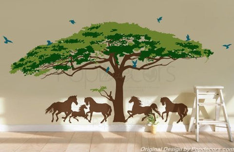 Monkey Pod Tree-Wall Decal