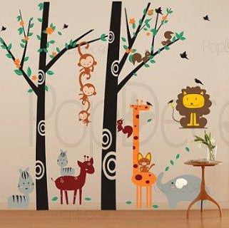 Party In the Woodland-Wall Decal - PopDecors,Baby Product, Pop Decors, PopDecors