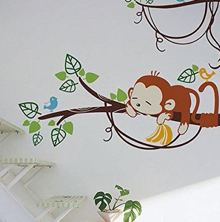 Adorable Monkeys-Wall Decal - PopDecors,Baby Product, Pop Decors, PopDecors