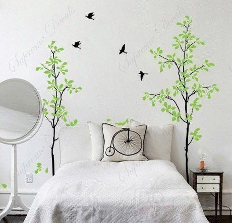 . Happy time tree decals   71 in   Beautiful Tree Wall Decals for Kids Rooms  Teen Girls Boys Wallpaper Murals Sticker Wall Stickers Nursery Decor