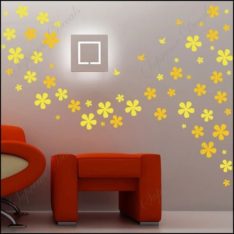 Made in US - Free Custom Color - Flying flower dreams vinyl art wall decals home murals - PopDecors,Baby Product, unbeatablesale168, PopDecors