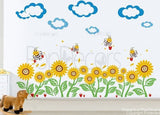 Sunflowers and Bees Wall Decals - PopDecors,Baby Product, Pop Decors, PopDecors