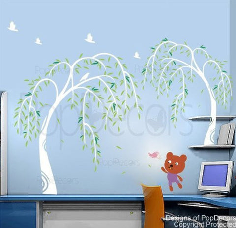 "Willow and Bear (68"" H)-Wall Decal - PopDecors,Baby Product, Pop Decors, PopDecors"