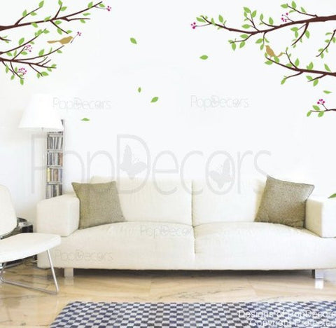 Elegant Tree Branch with Birds-Wall Decal - PopDecors,Baby Product, Pop Decors, PopDecors