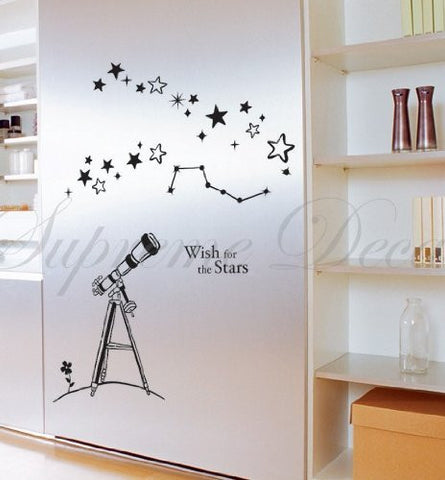 Custom PopDecals - Wish for the Stars - Beautiful Tree Wall Decals for Kids Rooms Teen Girls Boys Wallpaper Murals Sticker Wall Stickers Nursery Decor Nursery Decals - PopDecors,Baby Product, PopDecals, PopDecors