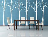 Set of Six Winter Cool Tree-Wall Decal