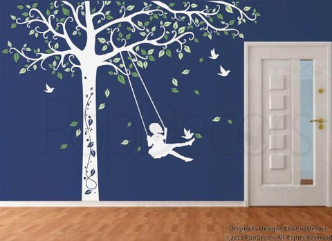 Tree Decal with Swing Gil-Wall Decal