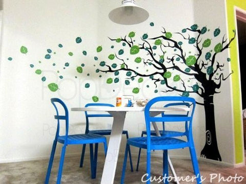 Flying Leaves Tree-Wall Decal