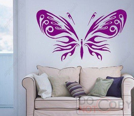 Custom Color PopDecals - Big butterfly - Removable vinyl art wall decals stickers murals home decor