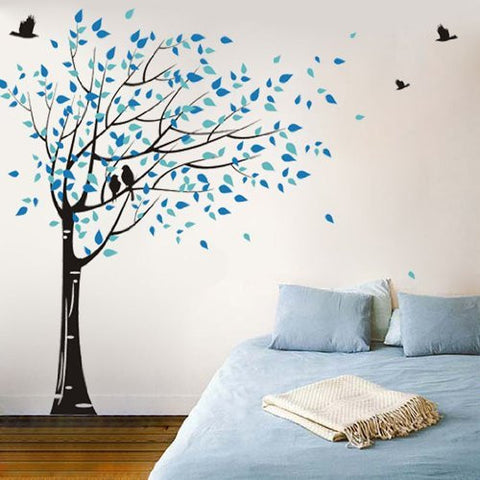 PopDecors - Gone with the wind Custom Beautiful Tree Wall Decals for Kids Rooms Teen Girls Boys Wallpaper Murals Sticker Wall Stickers Nursery Decor Nursery Decals