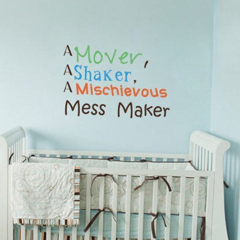 Mess Maker Quote Decal - PopDecorsBaby Product Pop Decors PopDecors  sc 1 st  Pop Decors & Mess Maker Quote Decal