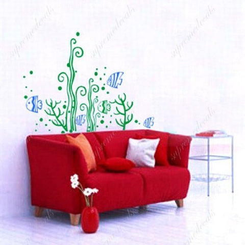 Fish and seaweed - Beautiful Tree Wall Decals for Kids Rooms Teen Girls Boys Wallpaper Murals Sticker Wall Stickers Nursery Decor Nursery Decals - PopDecors,Baby Product, PopDecals, PopDecors