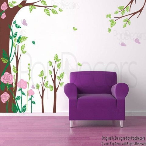 Fantasty Rose Garden-Wall Decal - PopDecors,Baby Product, Pop Decors, PopDecors