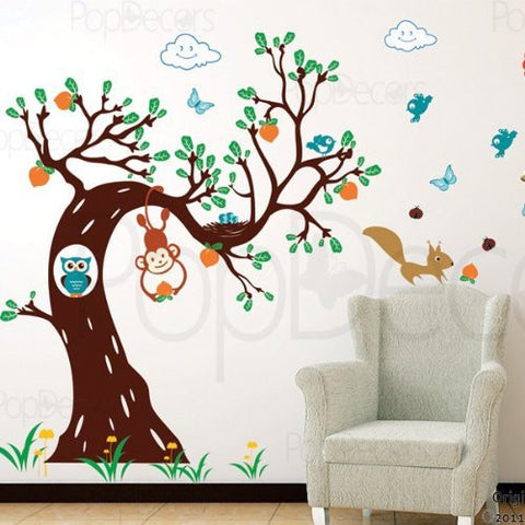 Woodland in the Morning for Boy's-Wall Decal - PopDecors,Baby Product, Pop Decors, PopDecors