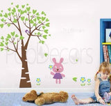 Bunny and Love Tree-Wall Decal - PopDecors,Baby Product, Pop Decors, PopDecors
