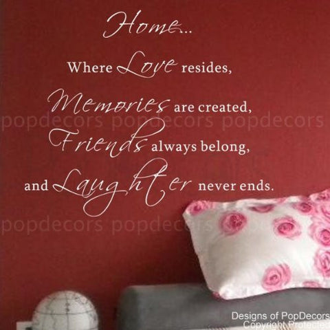 Home Where Love Resides-Quote Decal