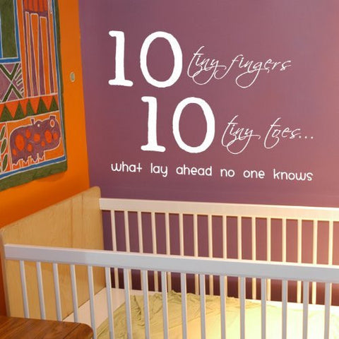 10 Tiny Fingers -Quote Decal - PopDecors,Baby Product, Pop Decors, PopDecors
