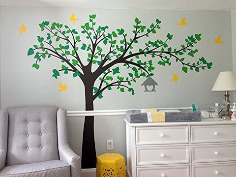 Tree Wall Decal Big Tree With Love Birds   PopDecors,Baby Product, Pop