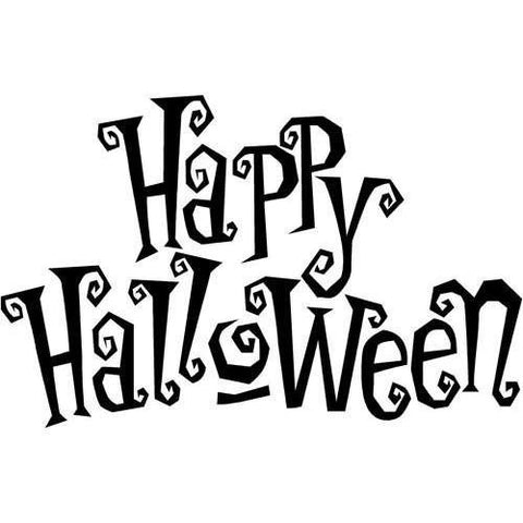 Custom Color PopDecals - Happy Halloween - Wall Art Home Decors Murals Removable Vinyl Decals Paper Stickers