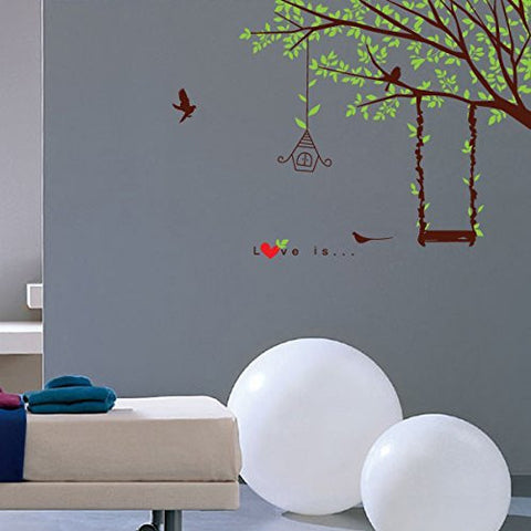 Swing Tree Kids Room Decors - Beautiful Tree Wall Decals for Kids Rooms Teen Girls Boys Wallpaper Murals Sticker Wall Stickers Nursery Decor Nursery Decals - PopDecors,Baby Product, PopDecals, PopDecors