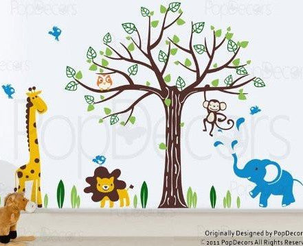 Happy Zoo-Wall Decal - PopDecors,Baby Product, Pop Decors, PopDecors