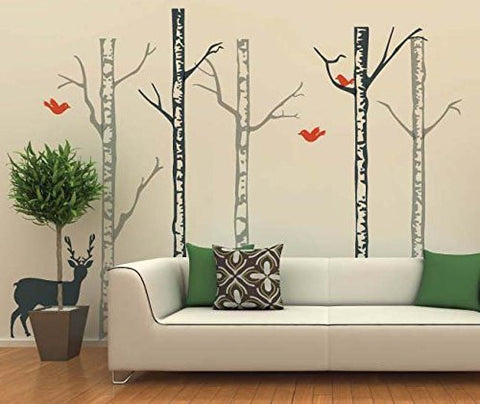 Winter Cool Forest with Deer (96 inch H)-Wall Decal - PopDecors,Baby Product, Pop Decors, PopDecors