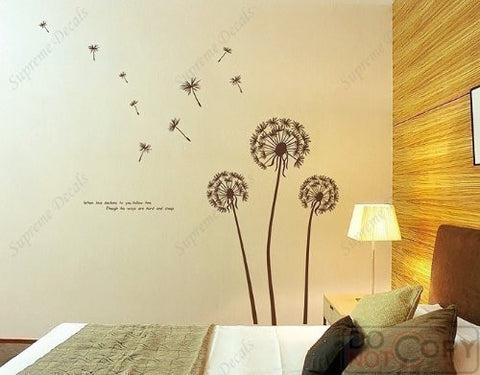 US Made - Custom Color - PopDecals - Dandelions - removable vinyl art wall decals sticker - PopDecors,Home, PopDecals, PopDecors