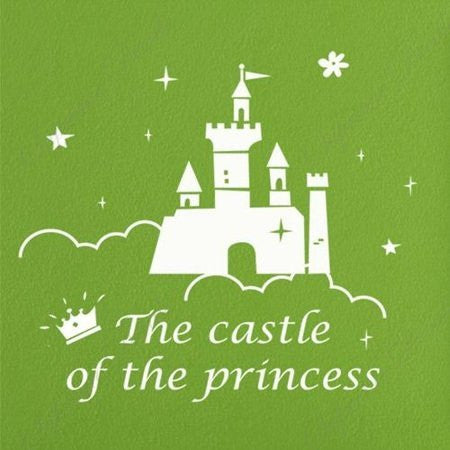 Custom PopDecals - The castle of the princess - Beautiful Tree Wall Decals for Kids Rooms Teen Girls Boys Wallpaper Murals Sticker Wall Stickers Nursery Decor Nursery Decals - PopDecors,Home, PopDecals, PopDecors