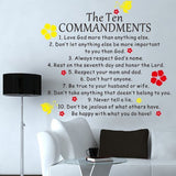 The Ten COMMANDENTS - Quote Decal - PopDecors,Baby Product, Pop Decors, PopDecors