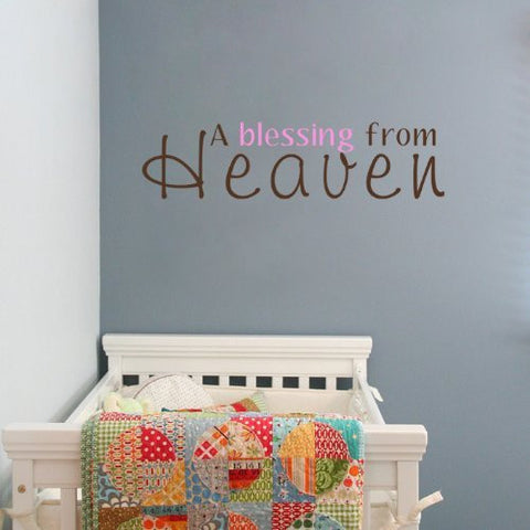 A Blessing From Heaven -Quote Decal - PopDecors,Baby Product, Pop Decors, PopDecors