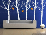 Set of Five Super Big Trees with Flying Birds-Wall Decal - PopDecors,Baby Product, Pop Decors, PopDecors