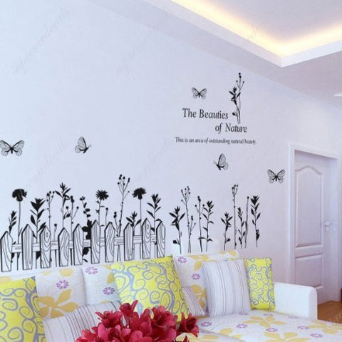Custom PopDecals - The beauties of nature - Beautiful Tree Wall Decals for Kids Rooms Teen Girls Boys Wallpaper Murals Sticker Wall Stickers Nursery Decor Nursery Decals