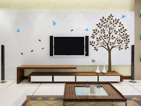 Custom Color PopDecals - New design - Sweet tree - Vinyl Sticker Wall Decals for Living Room
