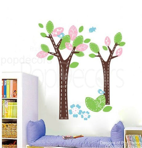Wonderland Tree-Wall Decal