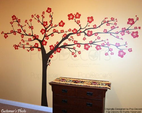 "Floral Super Big Tree(114"" W)-Wall Decal - PopDecors,Baby Product, Pop Decors, PopDecors"