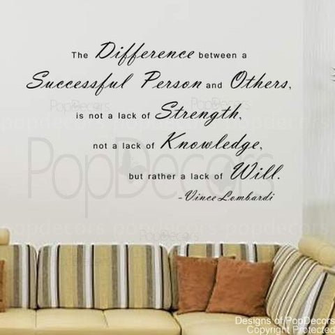 The Difference Between a Successful Person and Others-Quote Decal - PopDecors,Baby Product, Pop Decors, PopDecors