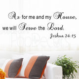 We Will Serve the Lord-Quote Decal - PopDecors,Baby Product, Pop Decors, PopDecors
