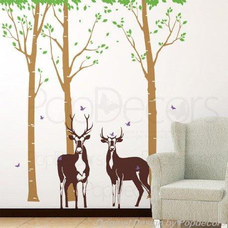 Tree Forest with Deer-Wall Decal - PopDecors,Baby Product, Pop Decors, PopDecors