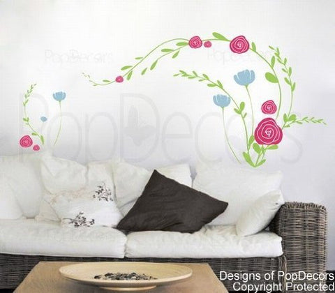 Little Flowers  Wall Decals - PopDecors,Baby Product, Pop Decors, PopDecors