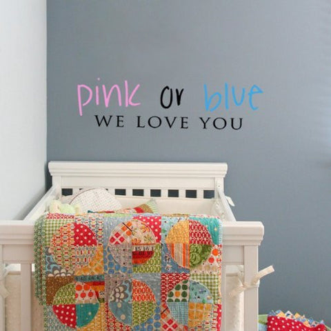 Pink Or Blue-Quote Decal - PopDecors,Baby Product, Pop Decors, PopDecors