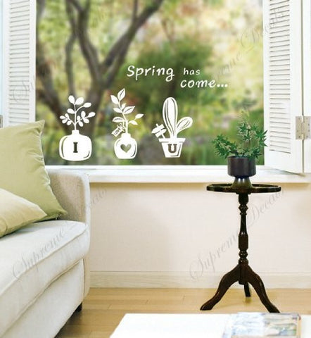 Custom PopDecals - Spring flowers - Beautiful Tree Wall Decals for Kids Rooms Teen Girls Boys Wallpaper Murals Sticker Wall Stickers Nursery Decor Nursery Decals - PopDecors,Home, PopDecals, PopDecors
