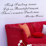 Life is a Beautiful Thing-Quote Decal