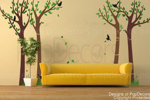 Dance with Breeze Colorful tree-Wall Decal - PopDecors,Baby Product, Pop Decors, PopDecors
