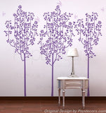 Flower Trees and Butterflies- Wall Decal