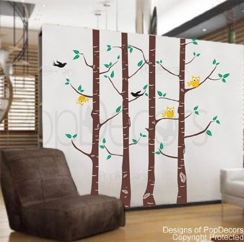 Owl and Tree decals-Wall Decal